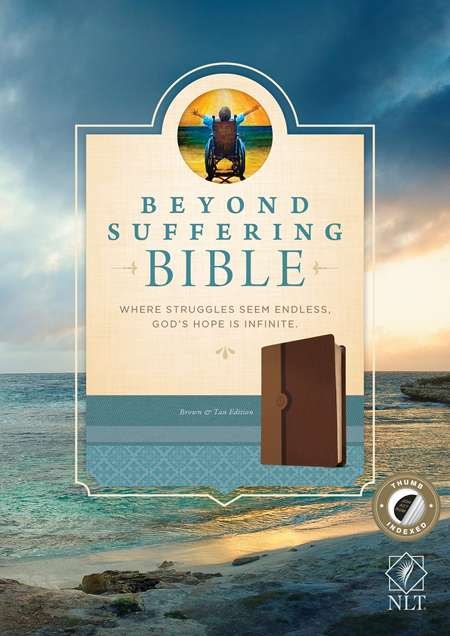 Cover of the Beyond Suffering Bible, LeatherLike Brown/Tan