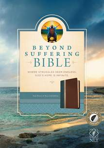 Beyond Suffering Bible NLT: LeatherLike, Indexed, Teal/Brown TuTone