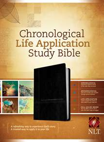 NLT Chronological Life Application Study Bible: LeatherLike, Black/Onyx TuTone