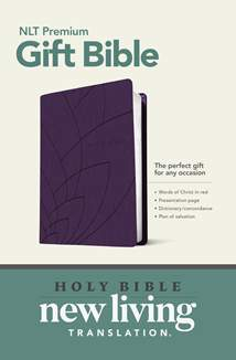 Premium Gift Bible NLT: LeatherLike, Purple Petals
