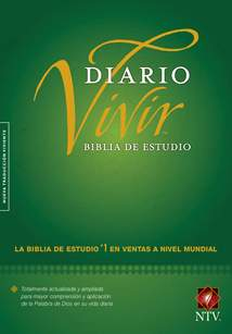 Biblia de estudio del diario vivir NTV: Hardcover, Indexed, Green, Red Letter