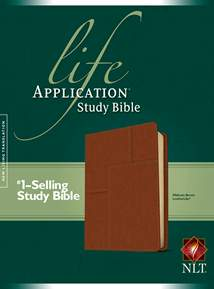 Life Application Study Bible NLT: Cloth: LeatherLike, Brown