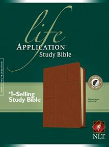 Life Application Study Bible NLT: LeatherLike, Indexed, Brown