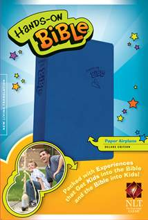 Hands-On Bible NLT: LeatherLike, Blue
