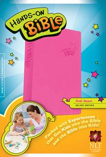 Hands-On Bible NLT: LeatherLike, Pink