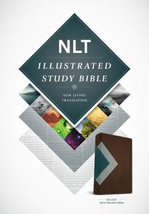 Illustrated Study Bible NLT Deluxe: LeatherLike, Teal/Chocolate TuTone