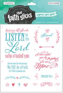 Isaiah 43:1: Stickers