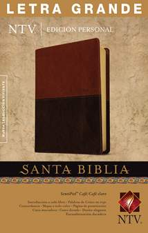 Santa Biblia NTV, Edición personal, letra grande: LeatherLike, Indexed, Brown/Tan, Red Letter