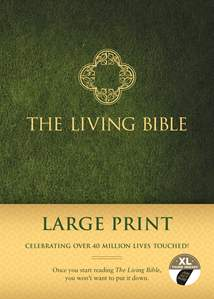 The Living Bible Large Print Edition: Hardcover, Indexed, Green