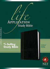 Life Application Study Bible NLT: LeatherLike, Black/Onyx TuTone