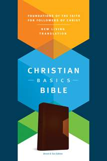 The Christian Basics Bible NLT: LeatherLike, Brown/Tan TuTone