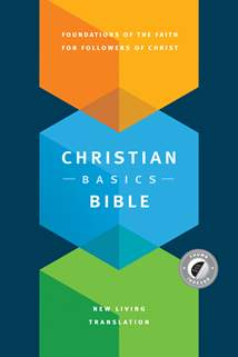 Christian Basics Bible NLT: Hardcover, Indexed