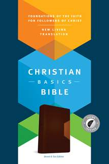 The Christian Basics Bible NLT: LeatherLike, Indexed, Brown/Tan TuTone