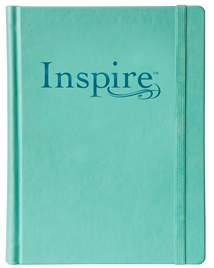 Inspire Bible NLT: LeatherLike Hardcover, Aquamarine