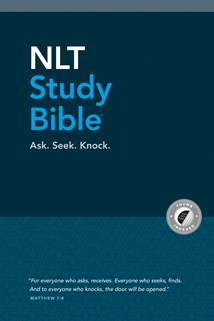 NLT Study Bible: Hardcover, Indexed, Blue Fabric