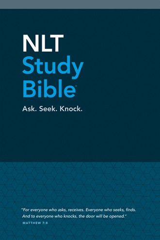 NLT Study Bible: Hardcover, Blue Fabric