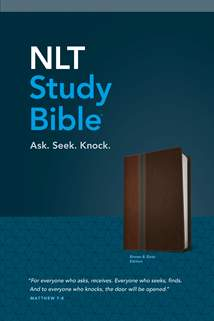 NLT Study Bible: LeatherLike, Brown/Slate TuTone, Red Letter