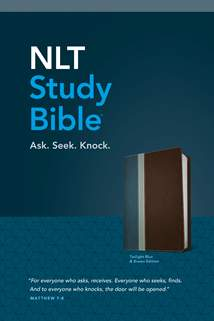 NLT Study Bible: LeatherLike, Twilight Blue/Brown TuTone, Red Letter