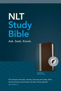 NLT Study Bible: LeatherLike, Indexed, Twilight Blue/Brown TuTone
