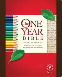 The One Year Bible Reflections NLT: Hardcover