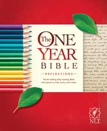 The One Year Bible Reflections NLT: Softcover