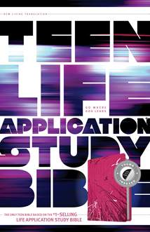 NLT Teen Life Application Study Bible: LeatherLike, Indexed, Pink Index