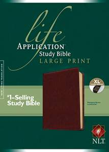 Life Application Study Bible NLT, Large Print: LeatherLike, Indexed, Brown
