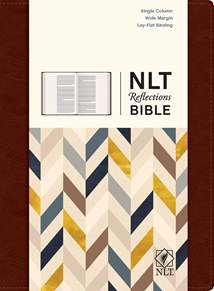 NLT Reflections Bible: LeatherLike Hardcover, Mahogany Brown