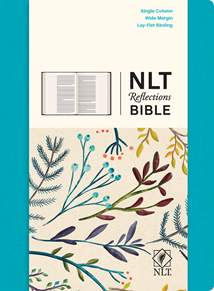NLT Reflections Bible: Hardcover Cloth, Ocean Blue