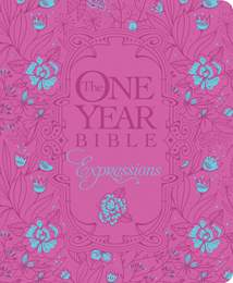 The One Year Bible Expressions: Hardcover, Pink Flower w Deluxe