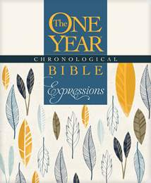 The One Year Chronological Bible Expressions: Softcover/Cream