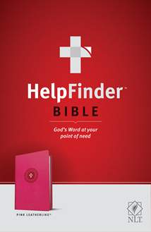 HelpFinder Bible NLT: LeatherLike, Pink, Red Letter