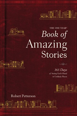 Front cover image of The One Year Book of Amazing Stories. This devotional is great for a new believer as it explores a different faith story each day and relates it to scripture.