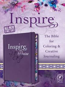 Inspire PRAISE Bible NLT: LeatherLike Hardcover, Purple