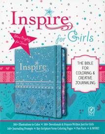 Inspire Bible for Girls NLT: LeatherLike Hardcover