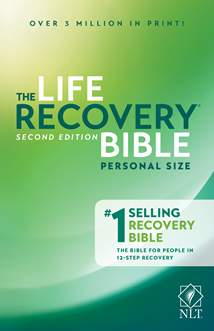 Life Recovery Bible NLT, Personal Size: Softcover