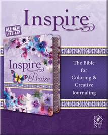 Inspire PRAISE Bible NLT: LeatherLike, Purple Garden