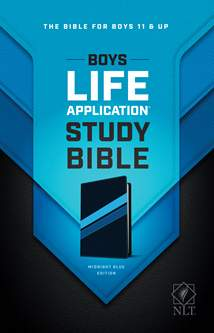 NLT Boys Life Application Study Bible: LeatherLike, Midnight Blue TuTone