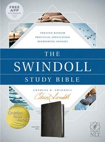 The Swindoll Study Bible NLT: LeatherLike, Black