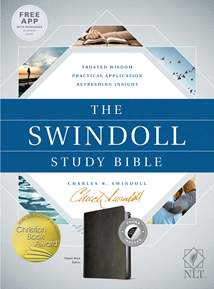 The Swindoll Study Bible NLT: LeatherLike, Indexed, Black