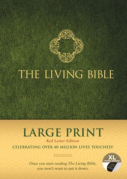 Tyndale The Living Bible Large Print Red Letter Edition