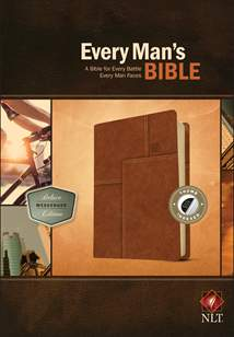Every Man's Bible NLT, Deluxe Messenger Edition: LeatherLike, Indexed, Brown