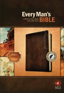 Every Man's Bible NLT, Deluxe Explorer Edition: LeatherLike, Indexed, Brown
