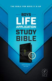 NLT Boys Life Application Study Bible: LeatherLike, Neon/Black TuTone