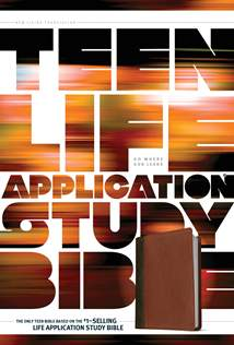 NLT Teen Life Application Study Bible: LeatherLike, Brown