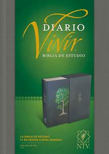 Biblia de estudio del diario vivir NTV: Hardcover Cloth, Gray, Red Letter