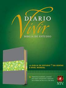 Biblia de estudio del diario vivir NTV: LeatherLike, Indexed, Gray/Green, Red Letter