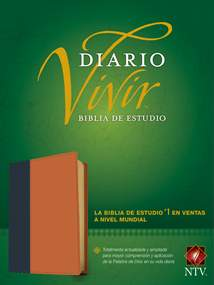 Biblia de estudio del diario vivir NTV: LeatherLike, Indexed, Blue/Tan, Red Letter