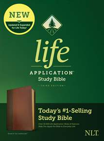 NLT Life Application Study Bible, Third Edition: LeatherLike, Brown/Mahogany