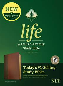 NLT Life Application Study Bible, Third Edition: LeatherLike, Indexed, Brown/Mahogany